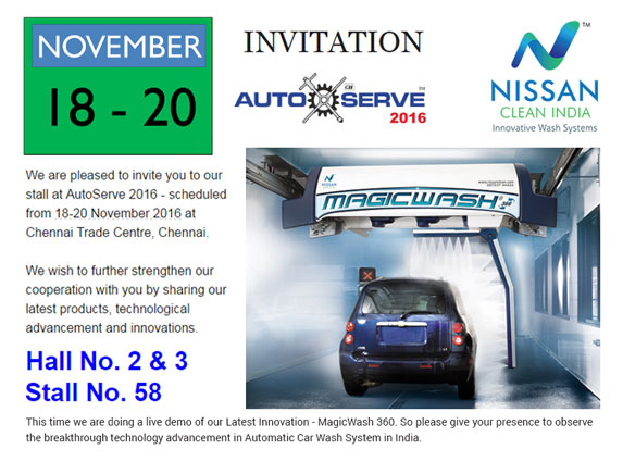 We are participating in the autoexpo components exhibition nissan clean india autoserve invitation 2016 stopboris Choice Image